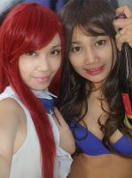 Erza Scarlet and cana Alberona by Aienm