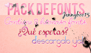 Pack de Fonts- by JennyBoo15