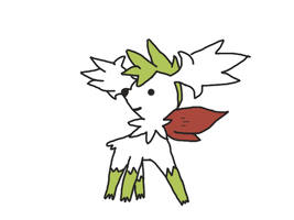 Shaymin Sky Form V2 by furrykitty99