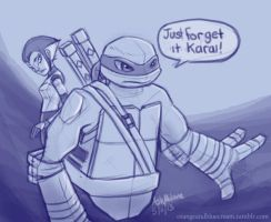 Leo and Karai Tumblr sketch by OrangeBlueCream