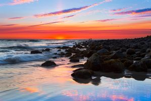 Burleigh sunrise by AXNLphotography