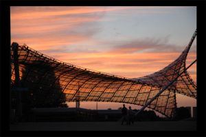 Sunset Olympiapark Munich pt.2 by atyclb