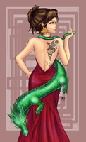 Lady Dragonne For Jade Dragonne Coloured by Suiish
