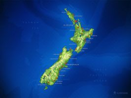 New Zealand Map by vladstudio