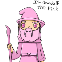 Pink Gandalf by Lynnae-Madison