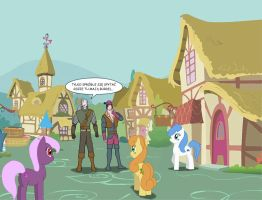 Witcher VS Ponyville by Celos666
