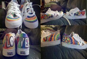 Rainbow shoes by Commoner205