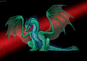 Sitting Dragon Color by jonito