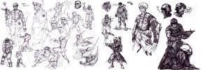 bionic commando sketches by yjianlong
