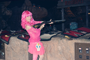 Pinkie Pie Cosplay- At The Shootout by blueangel06661