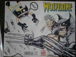 Wolverine and Daken plus chibi by WOLVERINE76