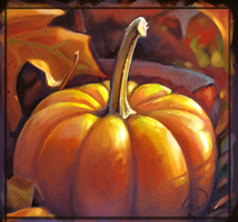Pumpkin study speed paint close up by charfade