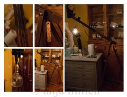 DIY Tripod Lamp by AnjaMillen