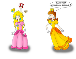 Daisy VS Peach by ZeFrenchM