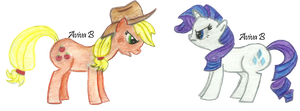 MLP: AppleJack and Rarity by hatoola13
