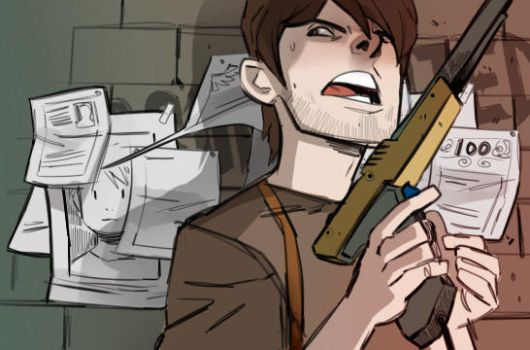 Ramsey the comic banner guy by Dynamaito