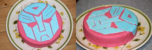 Autobot Cake (Pink 'n' Blue) by BoutABoy
