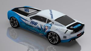 Touhou Racing Carson GT (Rear view) by skytire