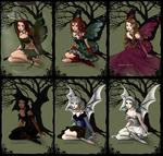 Big Four Fairies and Pixies 2 by marssetta