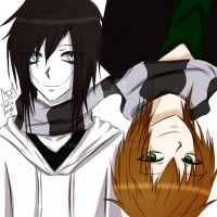 A scarf that unites us~/Liu and jeff the killer by RukiaAngle