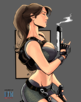 Lara Croft - Debalfo by NimeshMorarji
