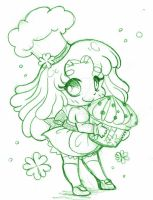 Celtic Bakery Micro Chibi ::Commission Sketch:: by YamPuff