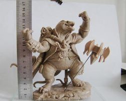 Sesslyth and Ezekiel Clay Sculpt by ShouldBee