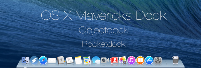 OS X Mavericks Dock by dtafalonso