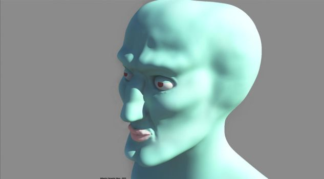 handsome squidward by SIRGEVA