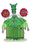 Cactus pope by MessyPaperCut