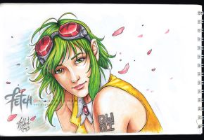 COPIC sketch01 GUMI by FranciscoETCHART