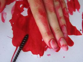 Blooded fingers by zzaarr-stock