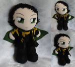 Commission+Art Trade, Mini Plushie Loki by ThePlushieLady