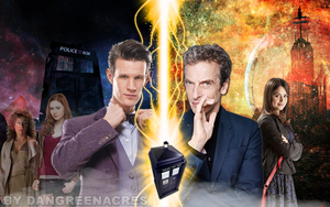 Matt Smith/Peter Capaldi Regeneration by Dangreenacres