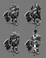 Orc Warrior Character Concept - Iterations by jeffchendesigns