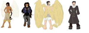 Angel character refs by Kamera-chan