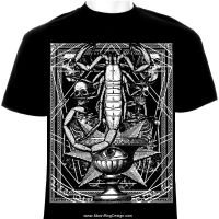 Abstract-eye-t-shirt-design-layout-metal-death-art by MOONRINGDESIGN