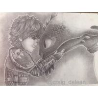 Hiccup and toothless doodle by Mimibert