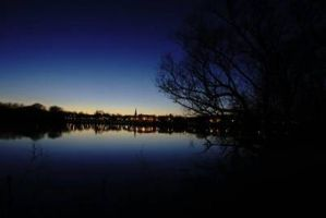 Whitewater, Wisconsin at late dusk by WisScout