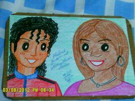 Michael Jackson and Whitney Houston by artluvr4life