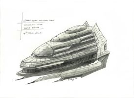 Green Alien military ship by SARGY001