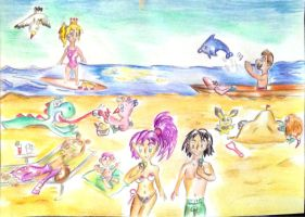 On the beach by Sulfura