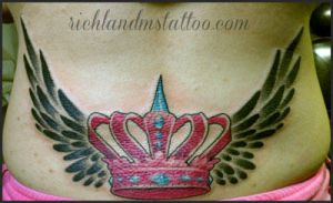 Crown Tattoo and Wings by jacksonmstattoo