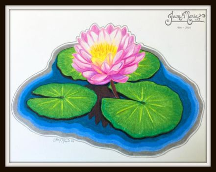 Kaitlyn's Water Lily - Dec 2016 by JeanMarieArt