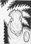 Cryolophosaurus (art card) by painted-wolfs-den