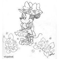 Floral Minnie by vic-pal
