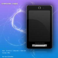 SAMSUNG F480 mobile dock icon. by inon30