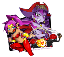 Shantae And Risky Boots by white-stew