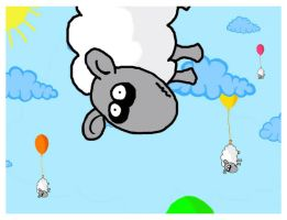 flying sheeps by cathshee