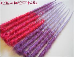 Purple Pink Lavender Transitional Synthetic Dreads by ChaotikFalls